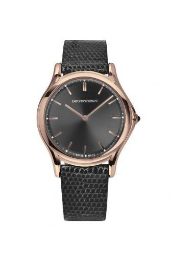 EMPORIO ARMANI Swiss Made Quartz Rose Gold Watch ARS2003